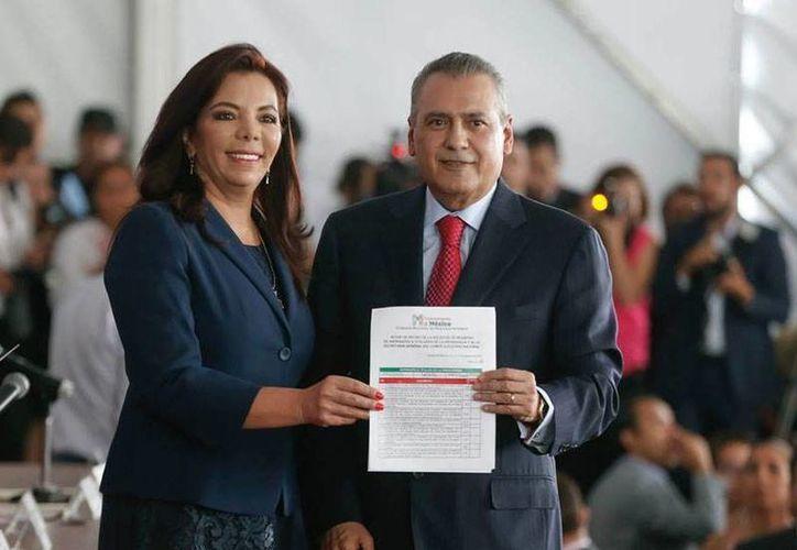Este jueves, rendirán protesta como presidente nacional y secretaria general del PRI, Manlio Fabio Beltrones y Carolina Monroy, respectivamente. (Especial)
