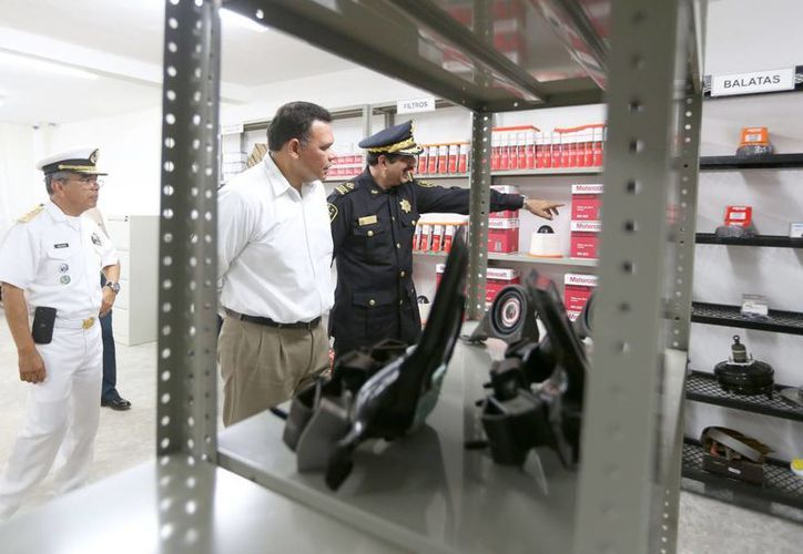 El nuevo taller de la SSP Yucatán tiene modernas instalaciones. (SIPSE)