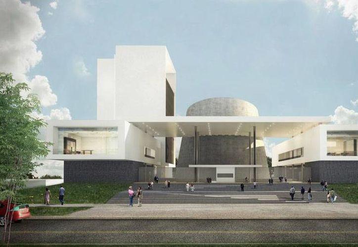 Diseño del nuevo edificio del Poder Legislativo (Congreso) del Estado de Yucatán; se ubicará en el periférico poniente de Mérida, cerca de la salida a Tetiz. (Cortesía)