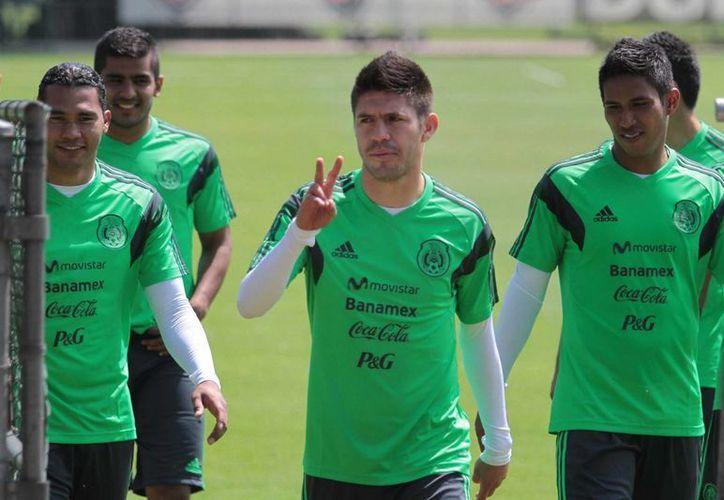 Jugadores de la Selección de México durante su concentración del pasado martes 25 de febrero. (Notimex)