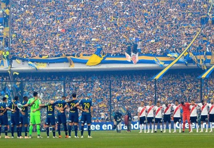 La final de la copa Libertadores entre el River Plate y Boca Juniors fue suspendida por disturbios entre aficionados. (Twitter)