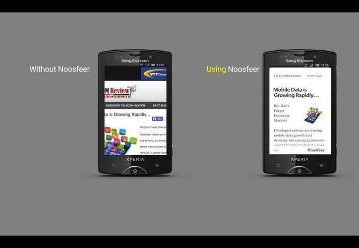 Un usuario con plan de datos gastaría menos internet al utilizar la aplicación Noosfeer. (Facebook/Noosfer)