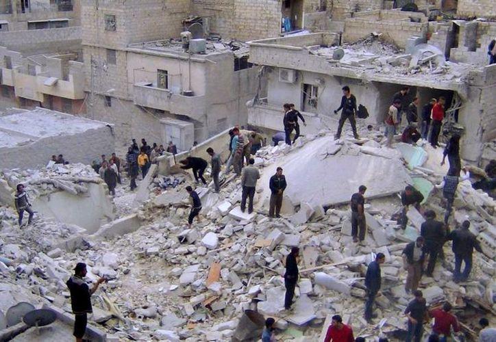 Los ataques se suceden unos tras otro en Siria. La imagen corresponde a la castigada población de Aleppo. (Agencia)