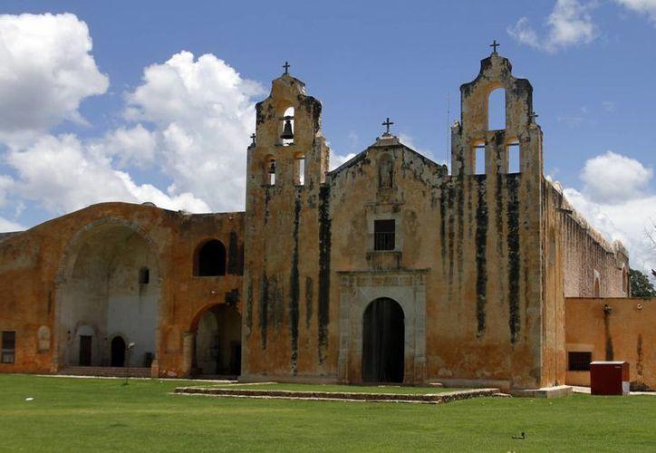 El convento de Maní, uno de los atractivos del lugar. (Milenio Novedades)