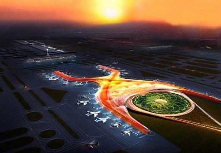 México busca inversionistas europeos interesados en participar en la construcción del nuevo aeropuerto de la capital del país. (Especial)