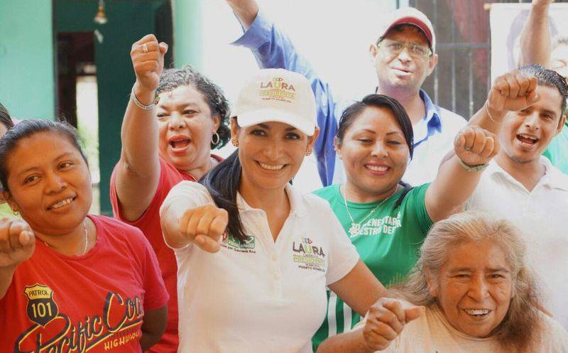 Laura Fernández se comprometió a concretar un campus universitario en la localidad. (SIPSE)