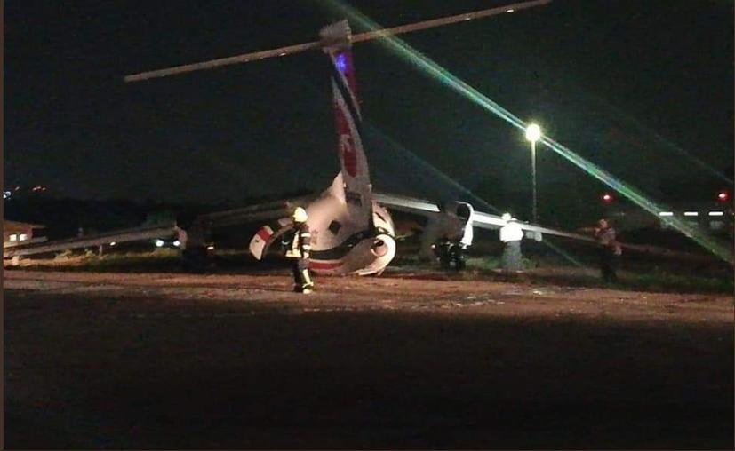 El aeropuerto permanece cerrado mientras se llevan a cabo las labores de emergencia.(Twitter @arakan_voice)