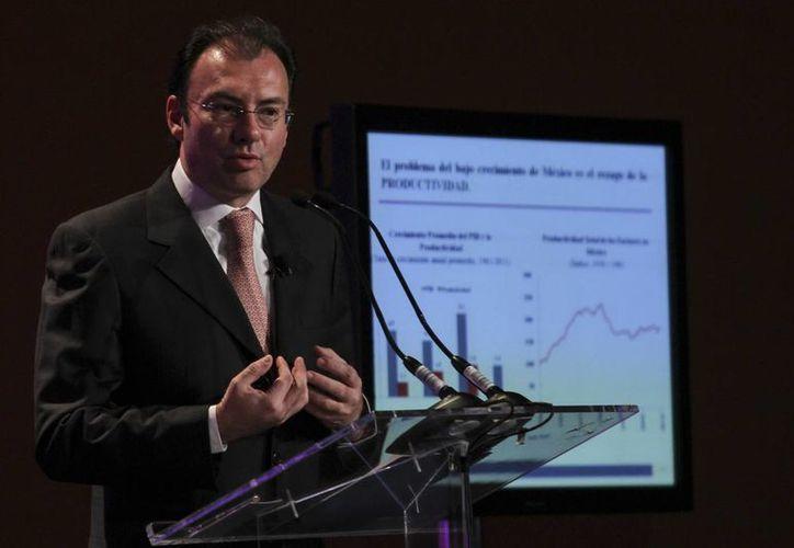 """El titular de la SHCP, Luis Videgaray Caso participó en el """"México Economic Summit"""". (Notimex)"""