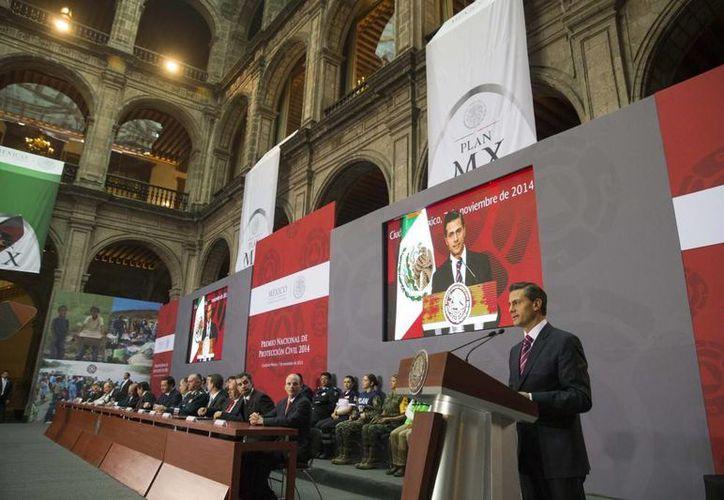 El presidente Enrique Peña Nieto durante la presentación del Plan MX, en Palacio Nacional, el 7 de noviembre de 2014. (Foto:presidencia.gob.mx)