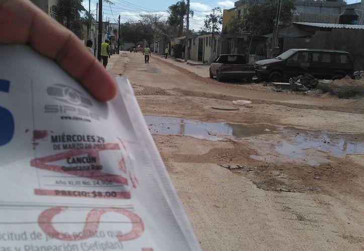 Los trabajos de Aguakan iniciaron el día de hoy en la Región 510. (Pedro Olive/ SIPSE)