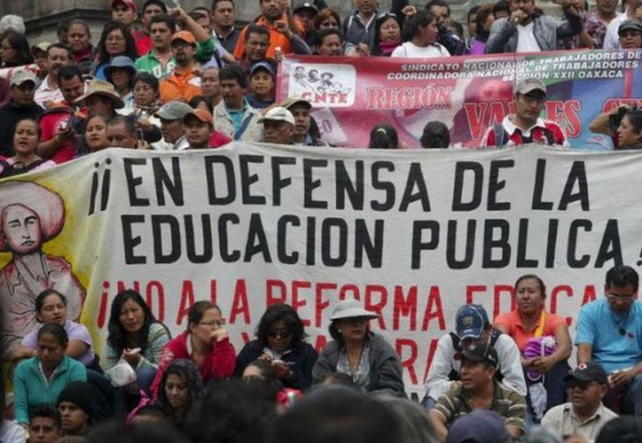 Maestros de la CNTE salieron de Oaxaca, Michoacán y Guerrero hacia la CDMX. (Twitter)