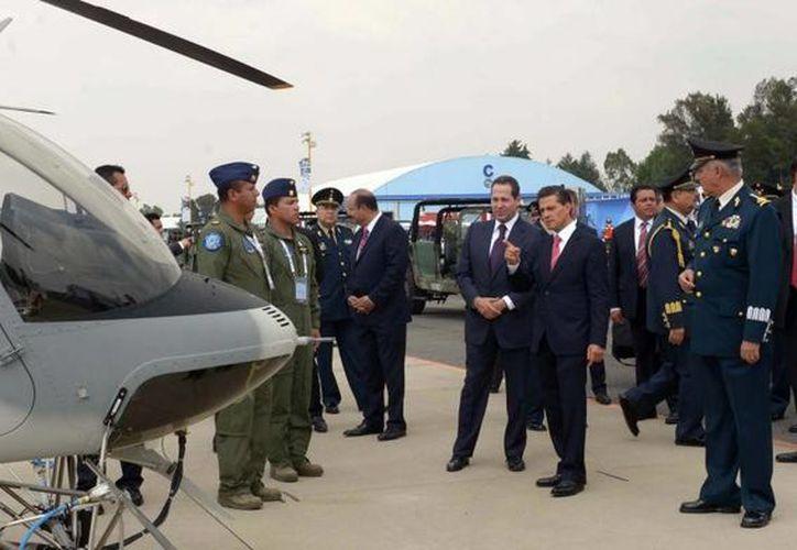 Peña Nieto informó a la Cámara de Diputados sobre la compra de diversas aeronaves para las Fuerzas Armadas.  (Presidencia)
