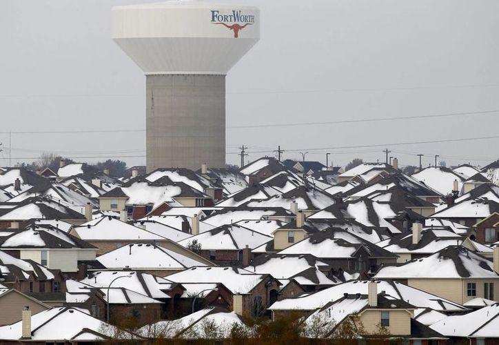 Una de las zonas más afectadas por la helada es la de Fort Worth, Texas. (Agencias)