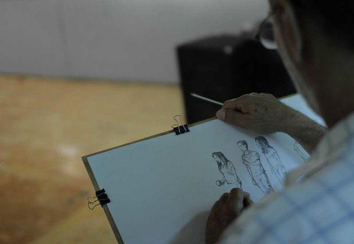 La convocatoria para ser parte de la exposición 'Los dibujantes de Cancún', hasta el momento es todo un éxito. (Alejandra Flores/SIPSE)