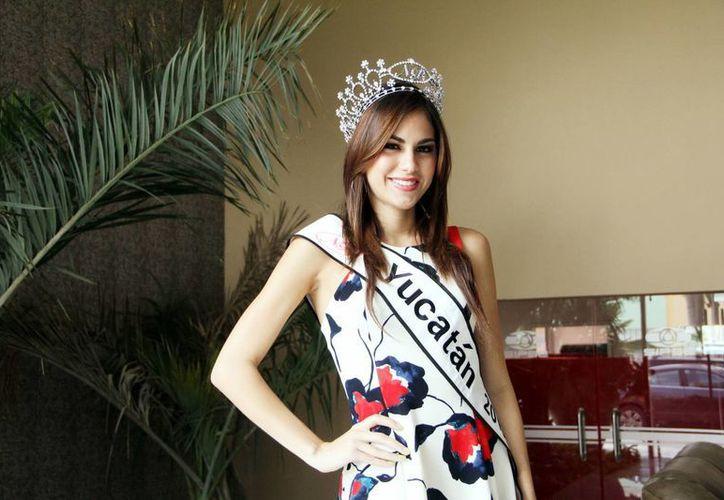 Maritza Heredia expresó que aunque ya no tenga el título continuará siendo Nuestra Belleza Yucatán 2013 y siempre deberá tener una buena imagen. (Milenio Novedades)