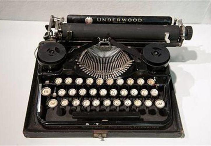La máquina de escribir de 1929 de la marca Underwood Standard de Ernest Hemingway. (Agencias)