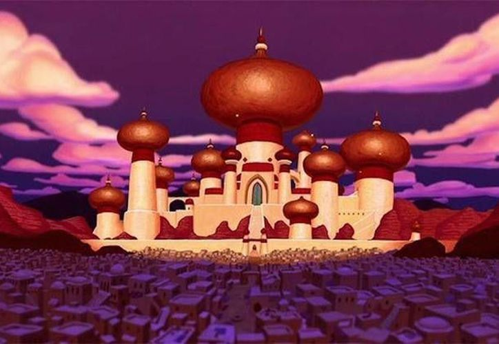Un 30 por ciento de los votantes republicanos de EU se expresaron a favor de lanzar un bombardeo contra la ciudad de Agrabah, casa de 'Aladdin', personaje infantil de Disney. (Imagen tomada de RT)