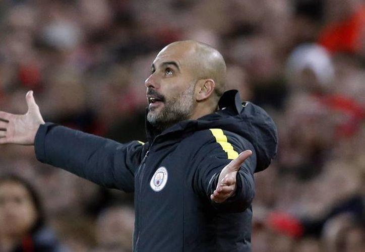 Pep Guardiola, entrenador del Manchester City, declaró que no espera ser entrenador a los 60 o 65 años. (Foto tomada de as.com)