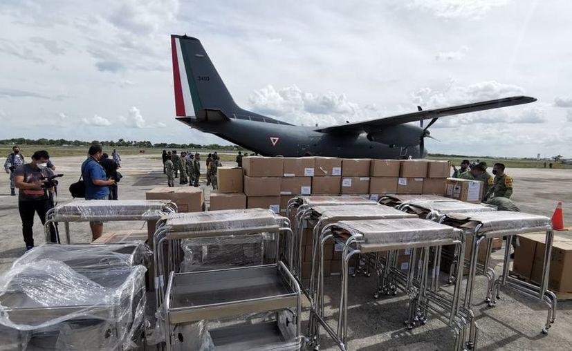 El cargamento representa compras presupuestadas que están siendo distribuidas. (Foto: Jorge Acosta)