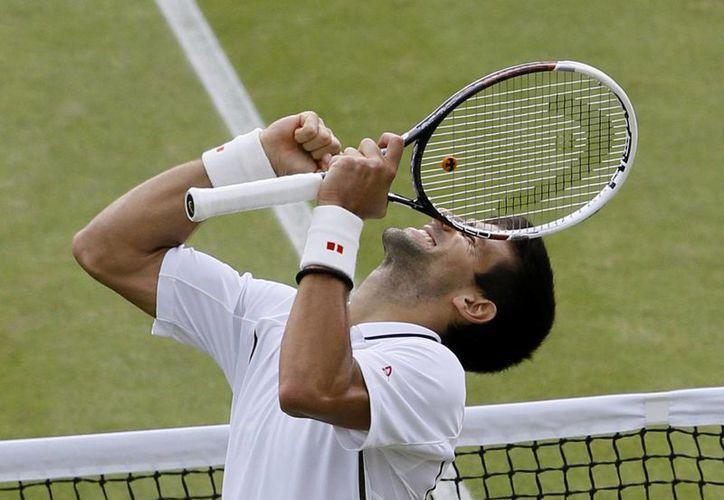 Novak Djokovic tras ganar en tres sets al checo Tomas Berdych. (Agencias)