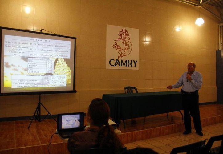 El presidente de la Camhy, Ricardo Dájer Nahum, presentó un informe de la ocupación hotelera en la entidad. (Juan Albornoz/SIPSE)
