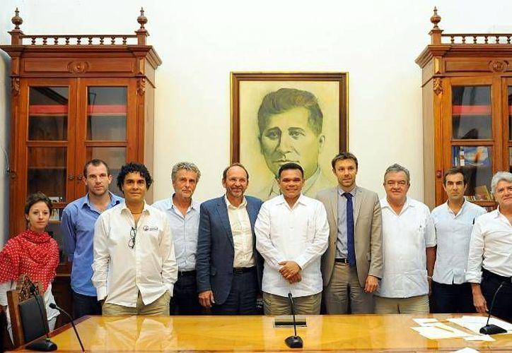 Francia y Yucatán buscan desarrollar proyectos a largo plazo que beneficien a ambas  entidades. (Cortesía)