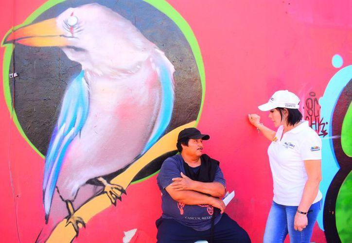 """Convoca la candidata a diputada federal por el distrito 04 de la coalición """"Por Quintana Roo al Frente"""" a sumarse todos por el cuidado del medio ambiente. (Redacción/SIPSE)"""