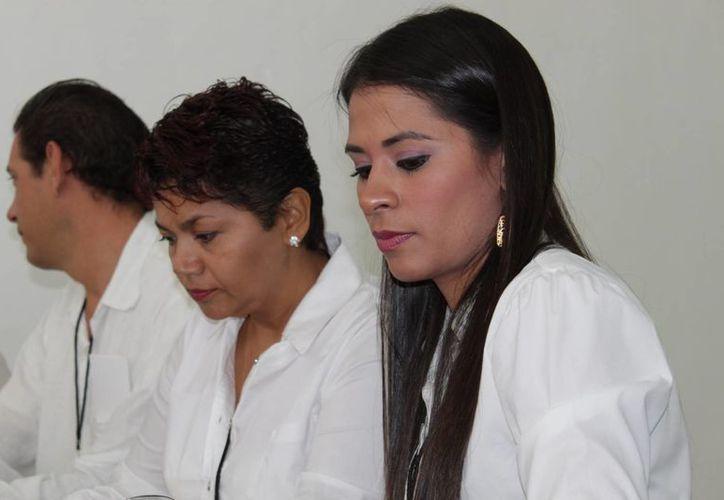 Anaid Aranda Lara (derecha), consejera presidenta del Consejo Distrital VII. (Adrián Barreto/SIPSE)