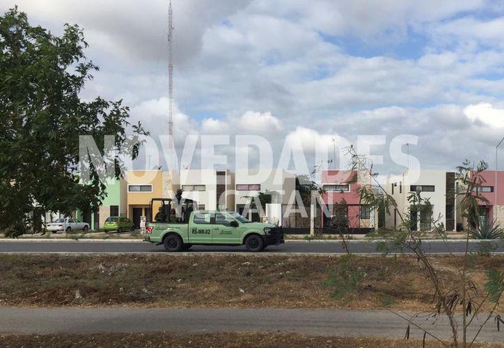 Se han visto elementos de la Subdirección de Salvaguarda Estratégica de Pemex. (Christian Coquet/ Novedades Yucatán)