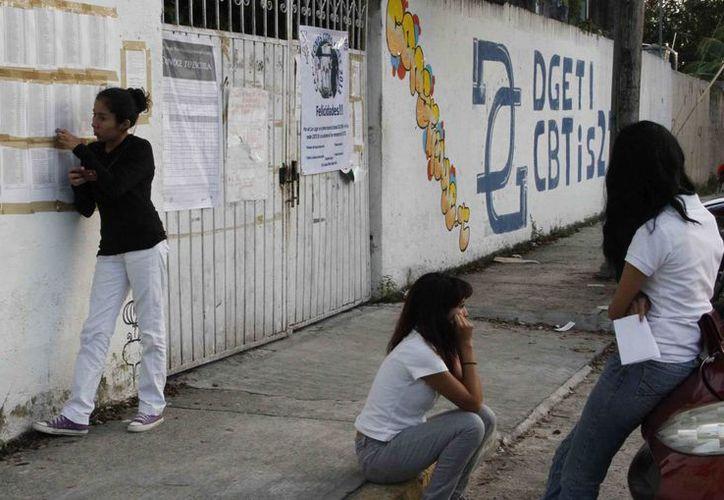 Lo alumnos se han mudado de edificio durante estos últimos tres años. (Tomás Álvarez/SIPSE)