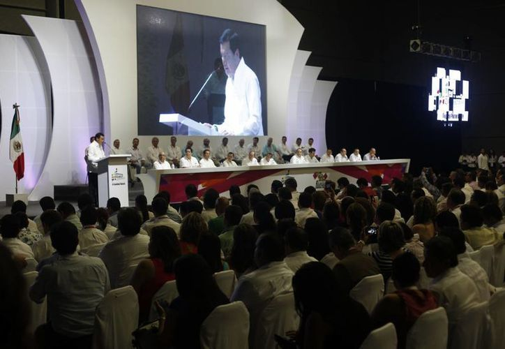 Realizan la conferencia permanente de congresos locales. (Israel Leal/SIPSE)
