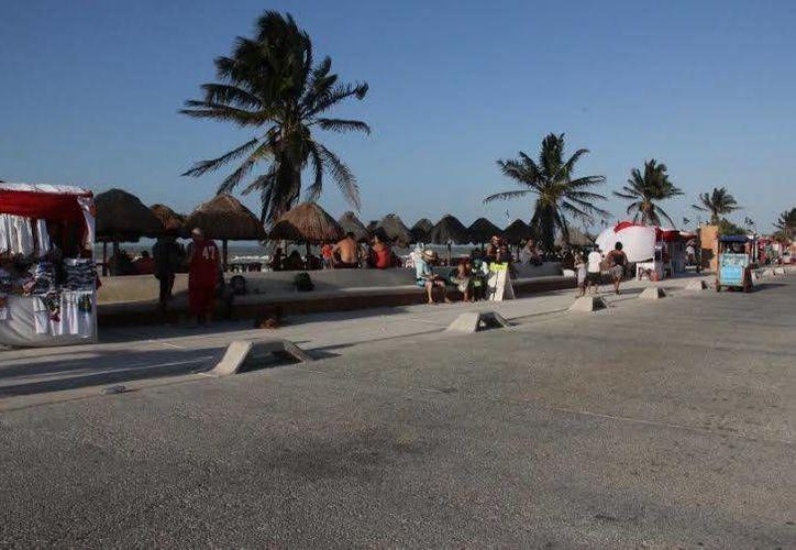 En gran parte debido al intenso calor solo unos cuantos de los miles de pasajeros que llegaron en el crucero Carnival Triumph se dejaron ver en Progreso. (Cortesía)