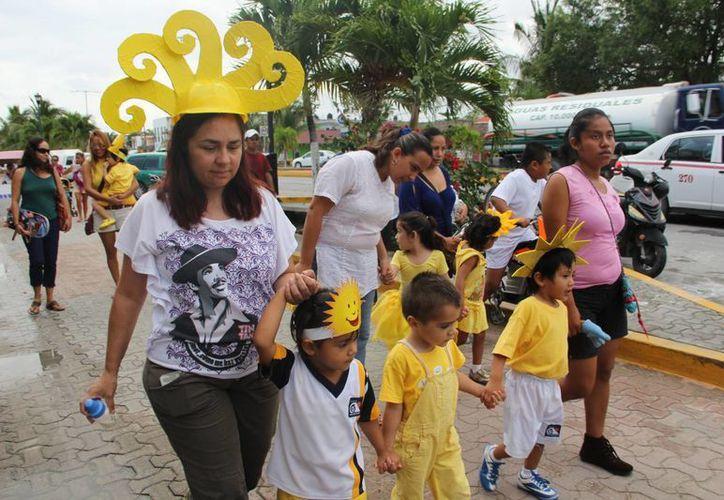 Participaron poco más de cien niños desde de preescolar y primaria. (Rossy López/SIPSE)
