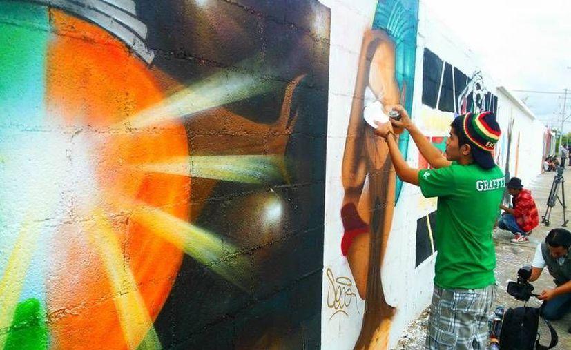 """El tema de los graffitis fue """"Vida y muerte en la cultura maya"""". (Carlos Manzanero/SIPSE)"""