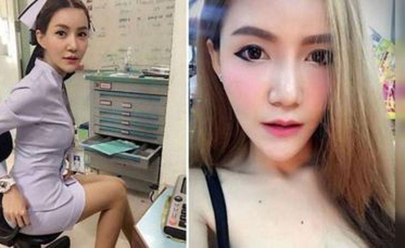 La foto la muestra en un uniforme ajustado con una falda corta muy ajustada que pone en evidencia su escultural figura. (MVS Noticias)