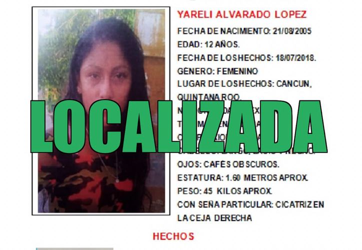 Yareli Alvarado López (Foto: Alerta Amber)