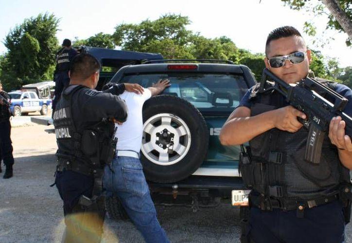 Autoridades buscan disminuir el índice delictivo. (Harold Alcocer/SIPSE)