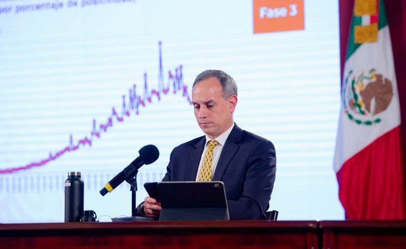 Dr. Hugo López.Gatell, subsecretario de Prevención y Promoción de la Salud de la Ssa, durante la conferencia de prensa diaria de la Ssa. (Foto: Twitter).