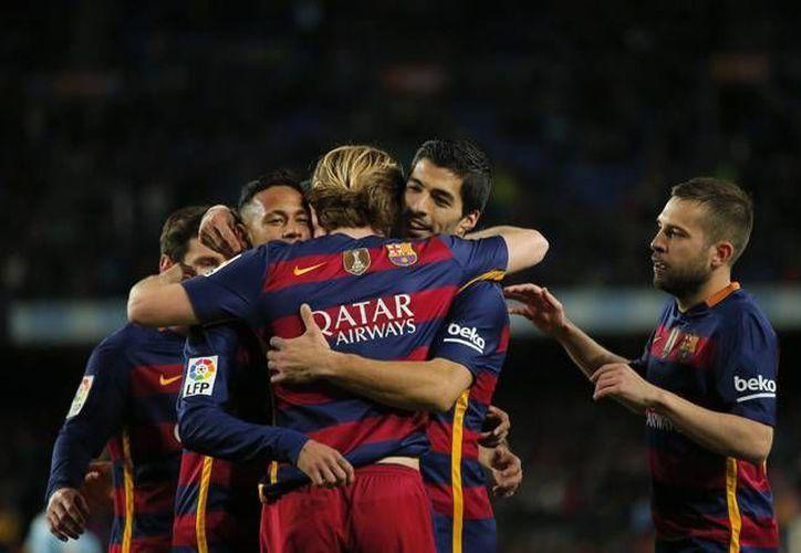 Este domingo el Barcelona goleó al Celta de Vigo en partido correspondiente a la fecha 24 del futbol español. (Imágenes AP)