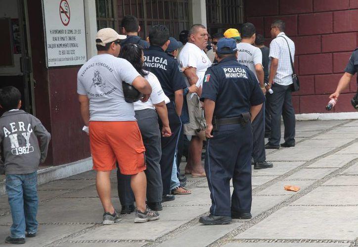 Cerca del 30% de los policías municipales sufre de obesidad. (Julián Miranda/SIPSE)