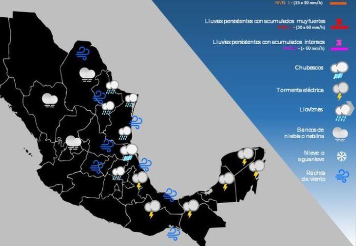 De acuerdo con el pronóstico se prevé que para mañana continúen las lluvias en Quintana Roo. (SMN)