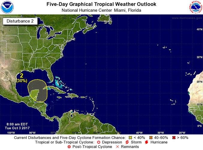 Tormenta tropical Nate se forma en cercanías a San Andrés