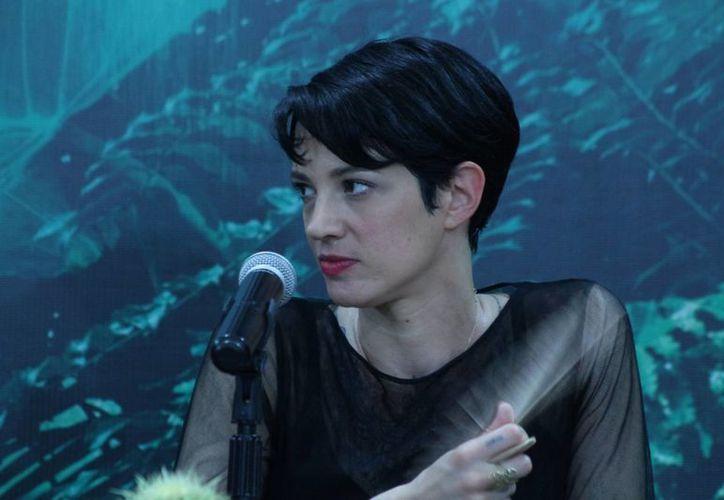 La directora italiana Asia Argento presentó ayer su película 'Incomprendida' en el primer día del Riviera Maya Film Festival. (Adrián Barreto/SIPSE)