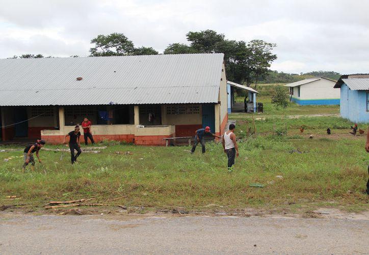 Para apoyar a los cortadores, les pagan entre 80 y 100 pesos al día para que limpien las galeras. (Carlos Castillo/SIPSE)