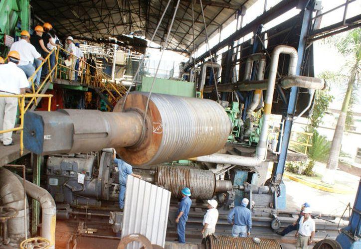 El paro de labores durante siete días propició un retraso en los trabajos de mantenimiento  del Ingenio San Rafael de Pucté. (Carlos Castillo/SIPSE)