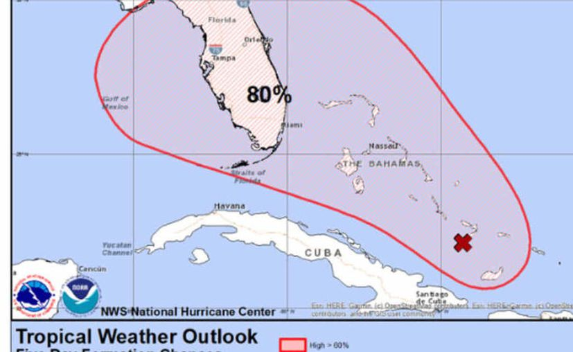 El meteorólogo John Morales ha pronosticado que no pasará de tormenta tropical débil cuando llegue a Florida, (Foto: CNH)