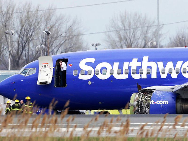 The plane, a twin-engine Boeing 737 bound from New York to Dallas with 149 people aboard. (AP)
