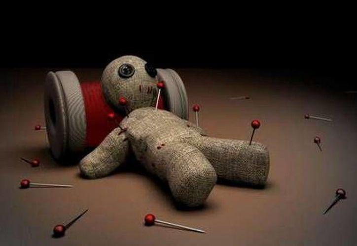 Esta es una de las múltiples representaciones de los muñecos de vudú. (Jorge Moreno/Milenio Novedades)