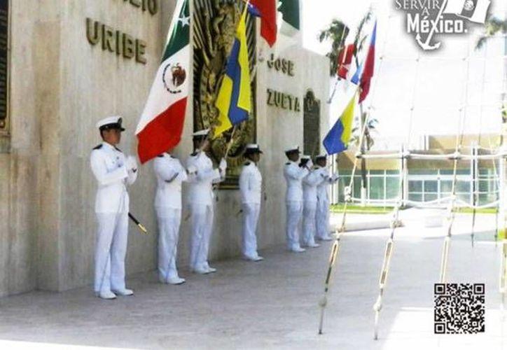 Aspecto de la ceremonia de reconocimientos a almirantes que pasan a situación de retiro y toma de protesta de nuevos funcionarios de la Semar (Foto: @SEMAR_mx)
