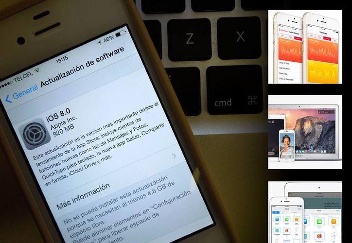 El nuevo sistema de Apple incorpora aplicaciones como Health y mejoras en iCloud. (Foto: Especial SIPSE)